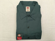 DICKIES 1574 Men's Hunter Green S/S Button Down Collared Work Shirt, Size 2XL