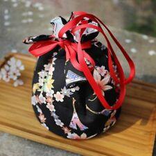 1 X Japanese Kimono Handbag Bucket Bag Lady Retro Cosplay Purse Hanfu Gift Fei34
