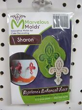 Marvelous Molds silicone lace mold SHARON fondant cake clay art supplies
