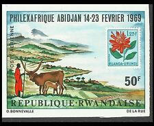 Ruanda Philexafrika Ankolerind Watusi Watussirind Rinder Zebus Ungezahnt ** 1969