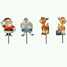 8-Inch Pre-Lit Rudolph the Red-Nosed Reindeer  Pathway Markers bumble clarice