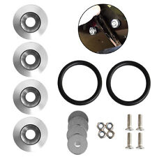 Quick Release Fasteners Kit Silver Color For Car Bumpers Trunk Fender Hatch Lids