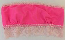 4a9321f79ac2d Victoria s Secret Pink Boned Lace Trimmed Cotton Blend Bandeau Bralette  Small