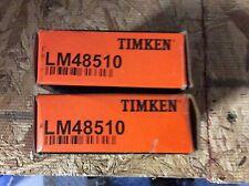 2-Timken-bearings, #LM48510, Free shipping lower 48, 30 day warranty!