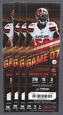 2016 NFL PITTSBURGH STEELERS @ CLEVELAND BROWNS FULL UNUSED FOOTBALL TICKETS (4)