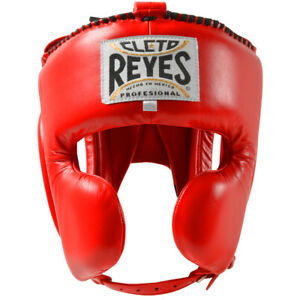 Cleto Reyes Classic Training Cheek Protection Boxing Headgear - Red