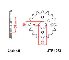 1990-1998 JT Sprockets Countershaft Sprocket 428 Pitch 16 Tooth Yamaha RT180