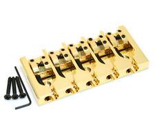 "Hipshot Gold/Brass 5-string A Series Bass Bridge .750"" String Spacing 5A500G"