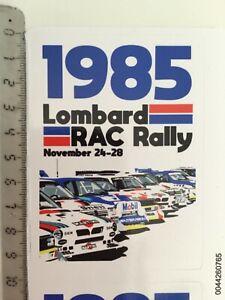 Sticker / Aufkleber, Lombard RAC Rally 1985, Rallye Gr.B, Lancia, MG, Audi, Peug