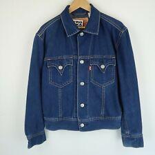 LEVIS Vintage red tab blue denim trucker jacket SZ Medium (E8207)