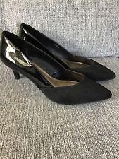 M & S Insolia Black Court Shoes Size 7 Wide Fit