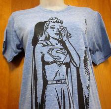 SUPERGIRL juniors small T shirt DC Comics cry tee SUPERMAN kitschy pop-art hero