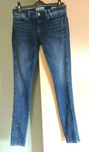 Guess Starlet Skinny Jeans   Diamante Detail Size 10  34L  Ladies Womens