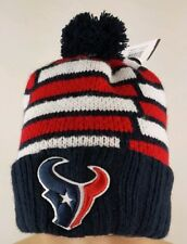 47 Brand Houston Texans Breakout Cuff Navy Red Wht Beanie Pom Knit Hat