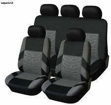 VW Toyota Fiat Housses Jeu Complet Couvre Siège Gris-Noir Tissu Haute Qualité