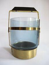 Älterer Messing Glas Eiswürfel Kelch Behälter