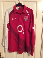 NIKE ENGLAND 02 RED L/S RUGBY SHIRT ADULT L 42-44- VGC.