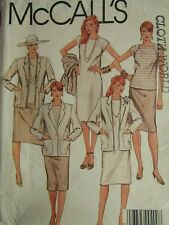 Amazing VTG 84 McCALLS 9129 Misses Jacket Dress or Top & Skirt PATTERN 12/34B