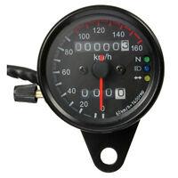 Moto compteur kilometrique Compteur de vitesse retro-eclairage LED 12V Noir WT