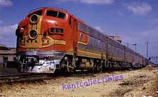 Santa Fe Warbonnet F7 diesel locomotive #45 passenger train railroad postcard