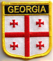 Georgia Country Flag Embroidered Patch T7