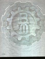 BTO LOGO 70s full size rock star vintage tee shirt transfer NOS