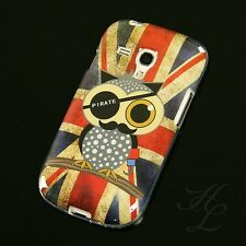 Samsung Galaxy S3 mini i8190 Silikon Case Handy Schutz Hülle Retro UK Eule Etui