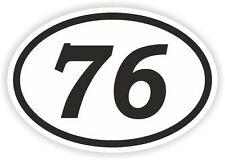 76 seventy-six numero OVALE Adesivo Paraurti Decalcomania MOTOCROSS motociclo aufkleber