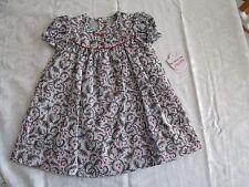 Smocked Bishop Dress Girls 12 Months 2 Piece 100% Cotton Viyela New NWT