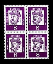 BUND bed. Deutsche (y)    8  Pf. **, Mi. 349 - im Viererblock