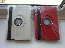 PAIR iPad MINI 360 FLIP CASE COVERS for IPAD 2/3 1x Red 1x White