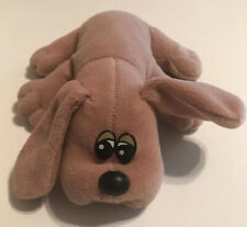 "Vintage Pound Puppies Puppy Solid Brown 8"" Plush Toy Tonka"
