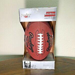 Rawlings Peyton Manning 18 Junior Size Football