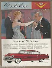 1955 CADILLAC advertisement, Sedan De Ville large size advert