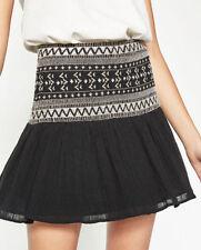 Cotton Blend Short/Mini Flippy, Full Skirts for Women