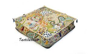 "24"" New Indian Home Décor Kantha 100% Cotton Floor Pillow Cushion Cover Throw AU"