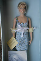 Franklin Mint Princess Diana Doll Blue Silk Beaded Gown LE 0337/1000 With COA