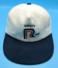 ROADWAY EXPRESS Safety G99 vintage white / blue adjustable cap / hat - USA Made