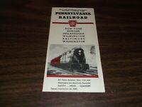 SEPTEMBER 1937 PRR PENNSYLVANIA RAILROAD FORM 79 NEW YORK TO WASHINGTON