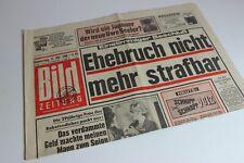 BILDzeitung 31.10.1968 Oktober Umschlagsseiten / 4 Seiten  Ehebruch