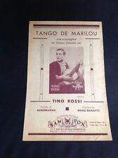 Partition - Tino Rossi - Tango de Marilou - Sam Fox - P1
