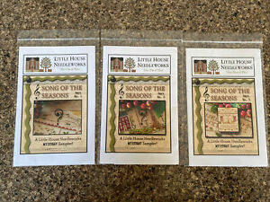 Little House Needleworks Cross Stitch Charts Song Of The Season All Three Parts