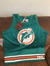 MIAMI DOLPHINS NFL MTCHELL&NESS THROWBACK MESH TANK TOP SIZE L MEN