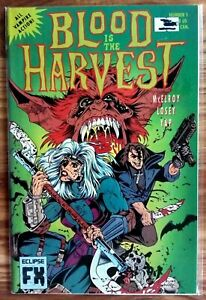 BLOOD IS THE HARVEST Eclipse Comics  Issues #1, 2 & 3 1992