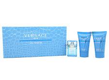 Versace Man Eau Fraiche Gift Set EDT 5ml Perfume Aftershave Balm 25ml Shower GEL