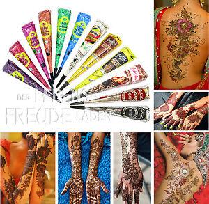 12x Golecha Henna Kegel für Mehndi Tattoo - Farbmix/Multicolor - kein PPD - 300g