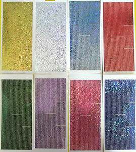 Straight Border Lines DIAMOND SHIMMER HOLOGRAPHIC PEEL OFF STICKERS Borders Line