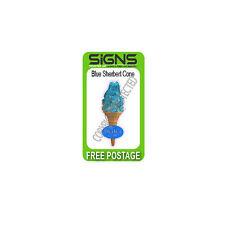 ice cream van / individual single blue sherbet sticker DIE CUT,