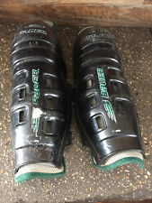 "USED BAUER HOCKEY KNEE PADS SHIN GAURDS 14"" W/ VELCRO"