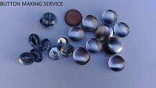 10 X NO 30 WIRE LOOP UPHOLSTERY BUTTONS MADE USING YOUR FABRIC/COVERING SERVICE